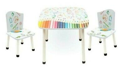 Style Childrens Wooden Table and Chair set - Kids Toddlers Childs - NEW DESIGN