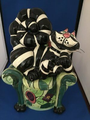 """Retired """"CLANCY THE CHESHIRE CAT"""" - WHIMSICAL CANDLE HOLDER by Lynda Corneille"""