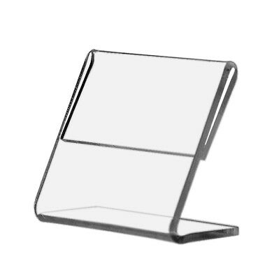 Name Price Frame Display Stand Table or Counter Slant Back Side Load Acrylic
