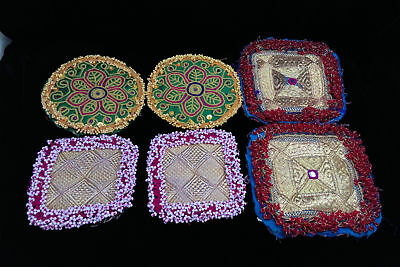 3 Pair Tribal Kuchi Patches Appliques Sew-on Ethnic Crafts