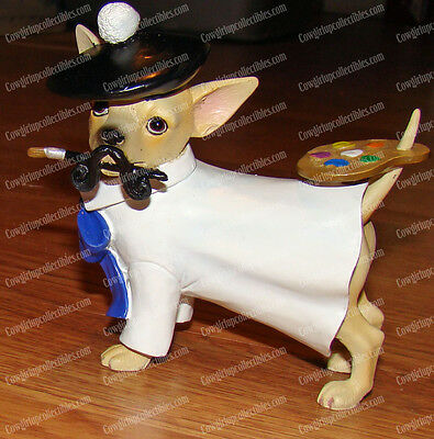ARTIST Pup (2008, Aye Chihuahua by Westland Giftware, 13337) Painting Dog
