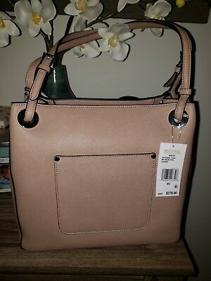 77259536aa55 NWT MICHAEL MICHAEL Kors Walsh $278 Medium Saffiano Leather Shoulder ...