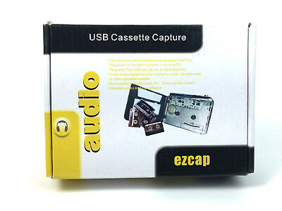 USB Cassette To MP3 Converter Capture EZCap Audio Super USB Portable Cassette