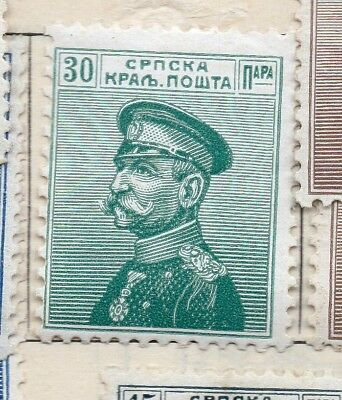 Serbia 1911 Early Issue Fine Mint Hinged 30pa. 265415