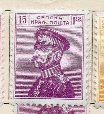 Serbia 1911 Early Issue Fine Mint Hinged 15pa. 265412