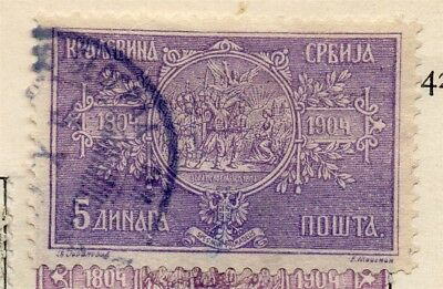 Serbia 1904-05 Early Issue Fine Used 5d. 265399