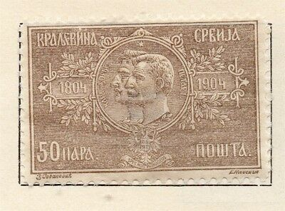 Serbia 1904-05 Early Issue Fine Mint Hinged 50pa. 265396