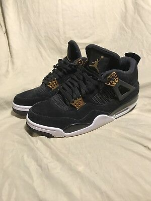 91754b8c4784 Nike Air Jordan 4 Retro IV Royalty Black White 308497-032 Size 10.5 Bred