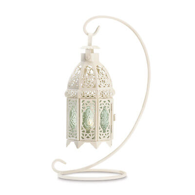 Gallery of Light - White Fancy Candle Lantern With Stand