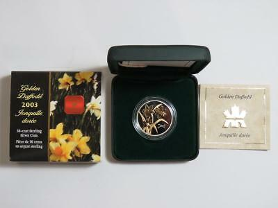 2003 Canada 50 Cent - Sterling Silver - Golden Daffodil
