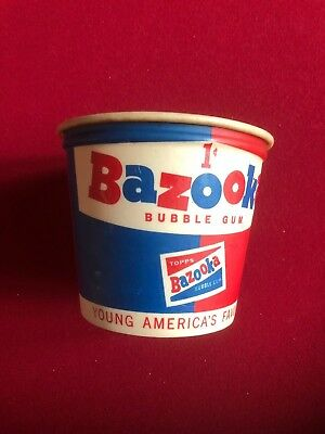 "1960's, Bazooka Bubble Gum, Wax Retail Sale Bucket (Scarce) ""Topps"""