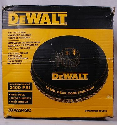 "DeWalt 18"" 3400 PSI Pressure Washer Surface Cleaner  DXPA34SC"