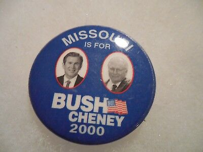 Missouri Presidential Pin Back George Bush Cheney Campaign Button President 2000