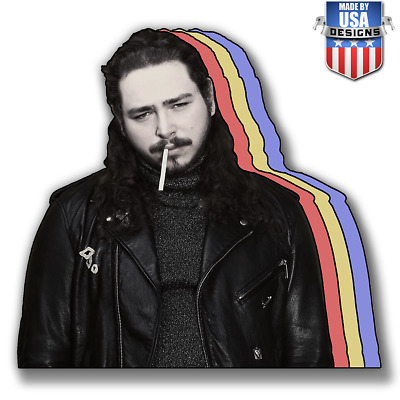 Post Malone Retro Cigarette Jacket Sticker Decal Phone laptop Car Window 20337