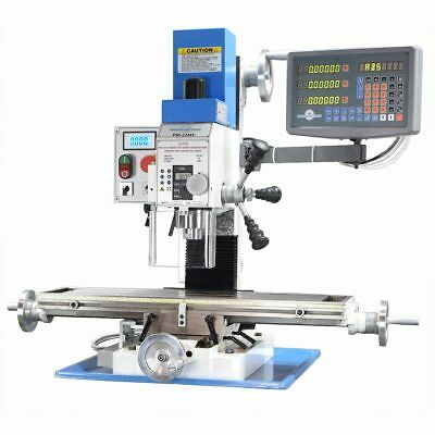 PM-25MV VERTICAL BENCH TOP MILLING MACHINE w/3-AXIS DRO INSTALLED FREE SHIPPING!