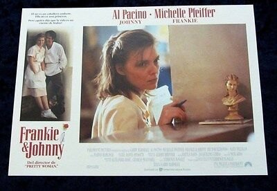Frankie and Johnny lobby card  # 8 - Al Pacino, Michelle Pfeiffer