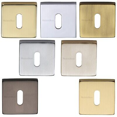 Square Open Standard Keyhole Escutcheon Concealed Fix - Premium UK Quality