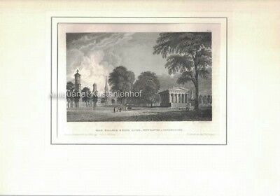Yale College & State House, Newhaven, Connecticut - Original-Stahlstich, BB12721