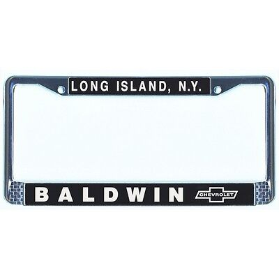 BALDWIN MOTION CHEVROLET Chrome License Plate Frame Copo Corvette ...