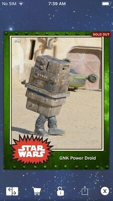 Topps Star Wars Digital Card Trader Green Rust GNK Power Droid Base 4 Variant