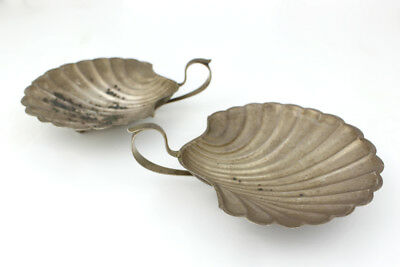 M. Fred Hirsch Co Inc. Sterling Silver Footed Shell Dish with Handle; Set of 2