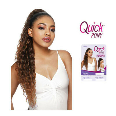 Outre Quick Ponytail Drawstring Hair Extension Hairpieces Long Curly Wavy -Nikka