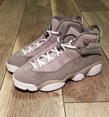 7d2323267d1648 Nike Air Jordan 6 Rings BG Grey Size 4.5Y Big Kids Basketball Shoes 323419-