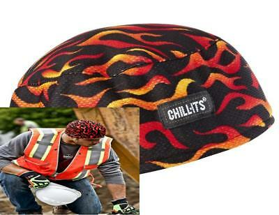 Chill-Its 6630 Absorptive Moisture-Wicking Skull Cap, Flames