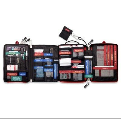 Handy First Aid Kit Bag 4-Section Emergency Medical Rescue Workplace