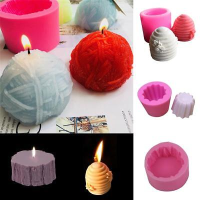 3D Silicone Bee Nest Candle Soap Making Mould Mold Cylinder Wedding DIY Crafts
