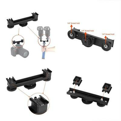 4.7inch Extension Mount Bar Hot Shoe Dual Bracket 1 To 2 For Canon Nikon Sony DV