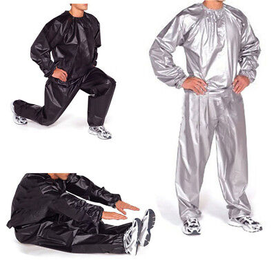 Heavy Duty Sweat Sauna Suit Gym Exercise Training Fitness Weight Loss Anti-Rip C