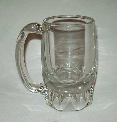 Old Antique vtg Early 19th C 1840s Heavy Blown Glass Beer Mug Bar Ware Very Nice