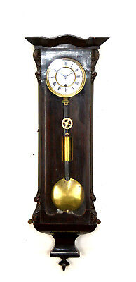 Super Rare Antique Biedermeier Miniature 8 DAY Vienna Regulator Wall Clock
