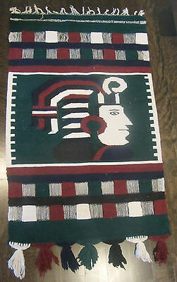 Home Decor Wall Persian Kilim Gelim Rug Carpet Soldier Middle Easter Green Navy