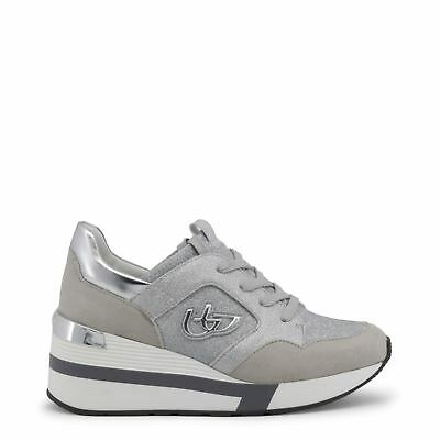 Blu Byblos Women s Fashion Sneakers Casual Wedge Lace Up Low Top Grey 339add47315