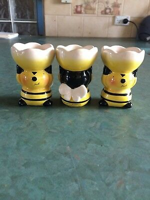 Ceramic Bee Novelty Egg Cups