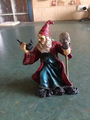 Wizard with Skull Staff Figurine