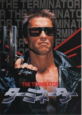 THE TERMINATOR Japanese Souvenir Program, Arnold Schwarzenegger, James Cameron