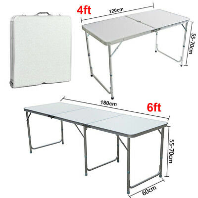 2 4 6FT Folding Table Trestle Camping Picnic Banquet Party Garden Heavy Duty UK