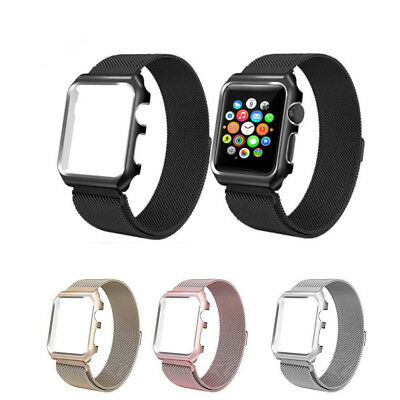 Milanese Stainless Steel Magnetic Clasp Mesh Loop Strap Band For Apple iWatch