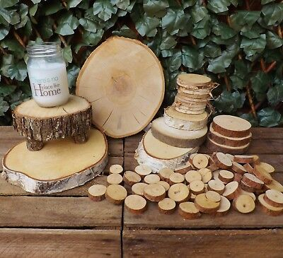 Wooden Log Slice Pine Birch Christmas Wedding Table Centrepiece Home Decoration
