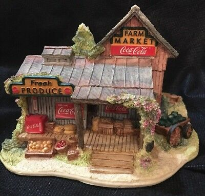 Lilliput Lane Country Fresh Pickins Coca Cola 1650 Limited Ed **2 Small Flaws
