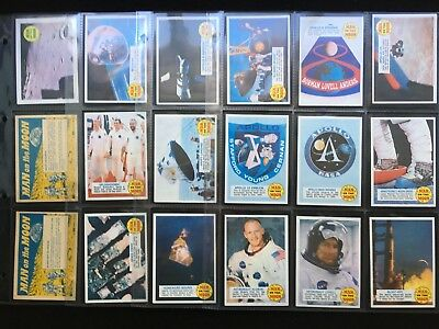 A&BC 1969 Man On The Moon Set of 73 Cards Minus Solar Wind Experiment - FCC