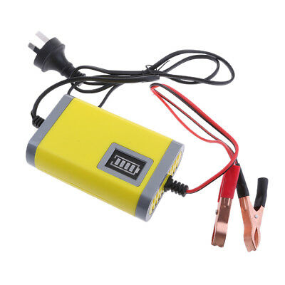 2A Electric Car Smart Battery Charger 12V Intelligent Pulse Repair Yellow