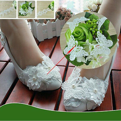 1yard Vintage Butterfly  Lace Edge Trim Ribbon Applique Sewing Wedding Craft Pro