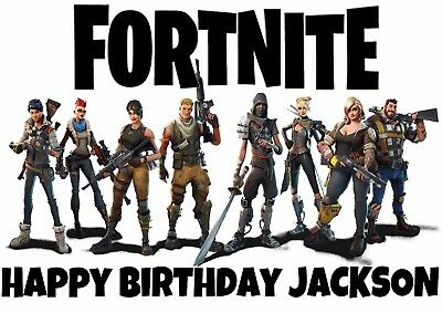 1 x Large A4 FORTNITE Personalised Wafer Rice Paper EDIBLE GAMING CAKE TOPPER