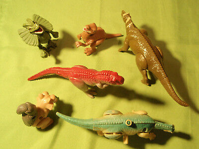 6 Dinosaurier Dino Figuren Happy Meal Mc Donalds 2008 2000 2009 Ice Age