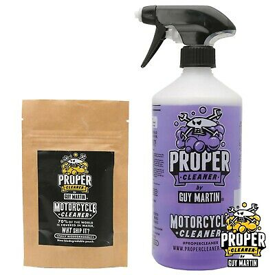 Guy Martin Proper Motorcycle Cleaner - Trigger Bottle & 2x Refill Capsules