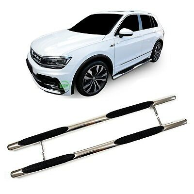 VW TIGUAN mk2 2016-up Side bars CHROME stainless steel side steps